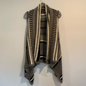 Black/Grey Open Front Sweater